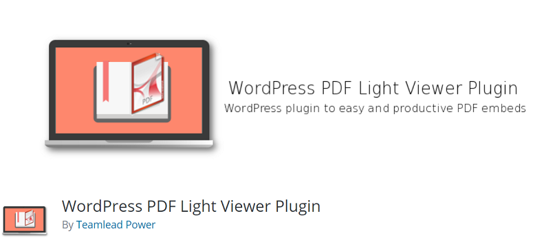 برنامج WordPress الإضافي PDF Light Viewer - مكون WordPress الإضافي